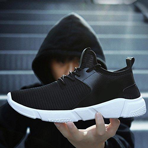 Zapatos Negro Deportes Correas De Corrientes Landfox Zapatillas Moda Deporte Los Sólidos Hombres xBwAPP7qz