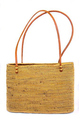 Chelsea Tote, Large Bali Tote, Handwoven Bali Bag, Chocolate Brown Lined Woven Tote, True Tropic