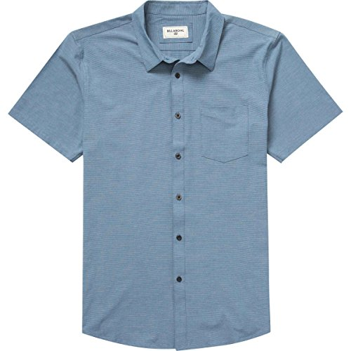 (Billabong Men's Crossfire X Woven Short Sleeve Shirt, Dark Royal, Medium)
