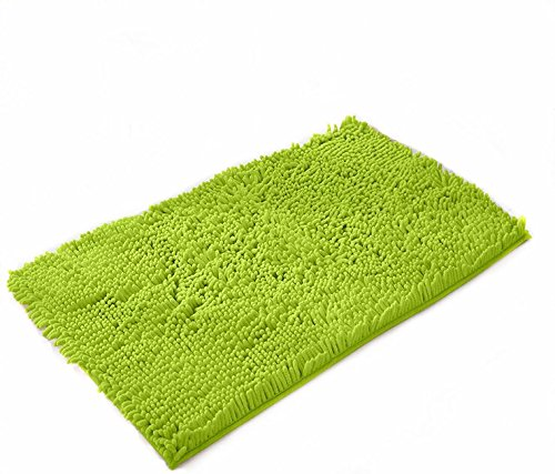 Ustide Grass Green Shaggy Area Rugs Non Slip Absorbent