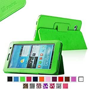 Fintie Slim Fit Folio Case Cover for Samsung Galaxy Tab 7.0 Plus / Samsung Galaxy Tab 2 7.0 Tablet - Green