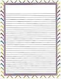 Rainbow Chevron 3 Hole Loose Leaf Paper 50 Sheets