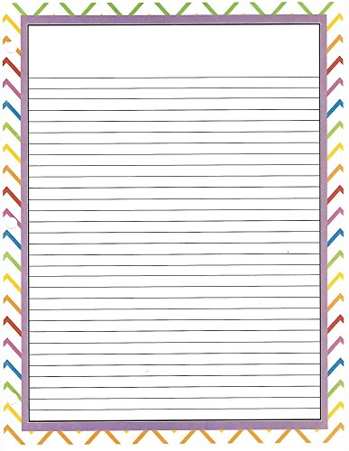 Rainbow Chevron 3 Hole Loose Leaf Paper 50 Sheets by Colors of Rainbow