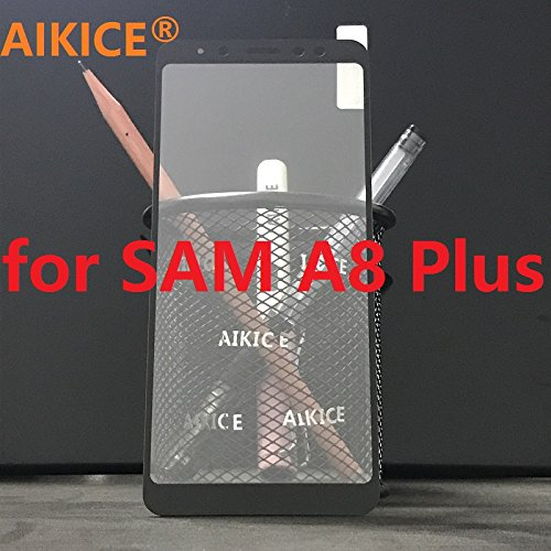 [2 PACK] AIKICE For Samsung Galaxy A8+ [Tempered...