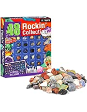 Adventskalender kinderen stenen 2021 Kerstmis Countdown heilkristal fossiele kit, Geographic Rock Mineral Fossil Dig Collection vroege kinderen educatief speelgoed voor kinderen en volwassenen