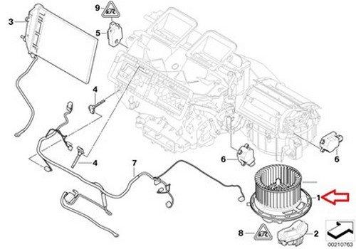 Bmw Oem Blower Motor Assembly With Regulator E82 E82e E84 E88 E89