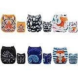Alva Baby New Design Reuseable Washable Pocket Cloth Diaper 6 Nappies + 12 Inserts 6DM23