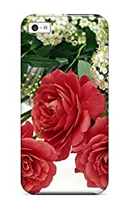 linJUN FENGJakeNC Scratch-free Phone Case For Iphone 5c- Retail Packaging - Desktop Flowers High Resolution