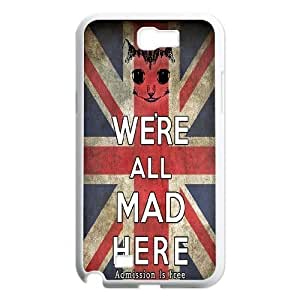 Customized Case Cover for SamSung Galaxy Note2 n7100 - We're All Mad Here case 3