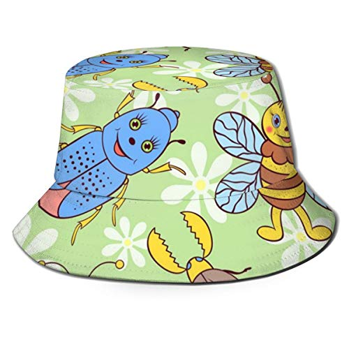 Cute Insects Unisex Casual Bucket Hat Fisherman Cap Sun Hat