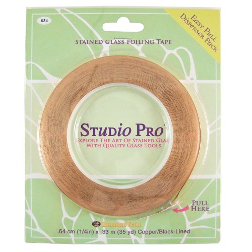 Studio Pro 7/32-Inch Black Lined Copper (Solder Copper Foil)