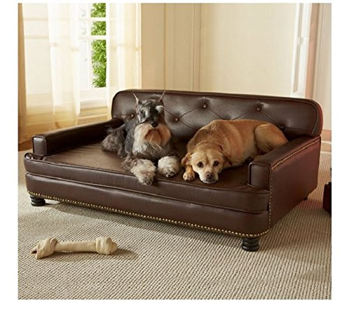 Enchanted Home Pet Library Sofa, 40.5 by 30 by 18-Inch, Brown by Enchanted Home Pet