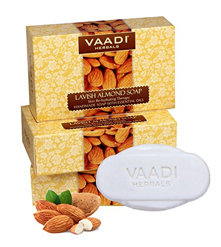 Vaadi Herbals Lavish Almond Soap Cleanses Skin Keep Your Skin Soft 75g Pack Of 6 Bar Soaps
