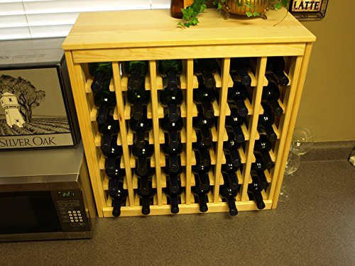 Wine Racks America Ponderosa Pine 36 Bottle Deluxe. Unstained