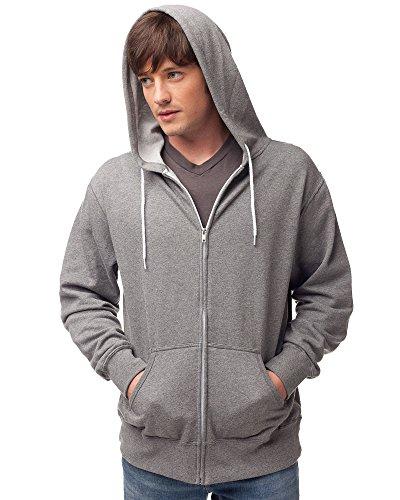 (Global Blank Slim Fit Lightweight Zip Up Hoodie for Men and Women M Gunmetal Grey)
