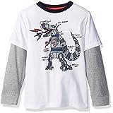 Gymboree Toddler Boys' Dinobot Graphic Tee, White, 5T