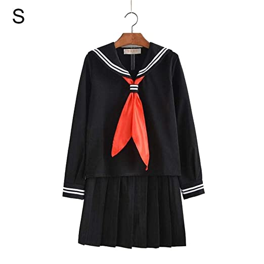 Uniforme de marinero japonés de manga larga,Bloomma camisas de ...