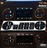AC Dash Button Repair Kit For Select GM Vehicles - Fix Ruined Faded A/C Controls