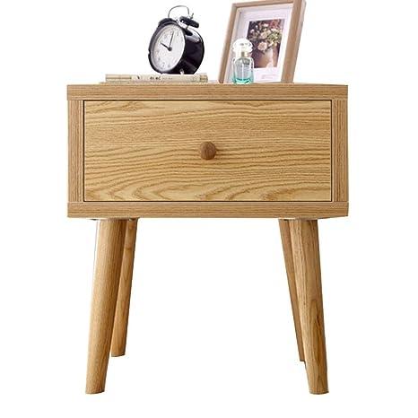 Amazon.com: Mesita de noche de madera maciza para mesita ...