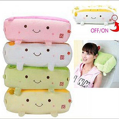 Hannari Grapefruit Tofu Massage Vibrational Pillow Cushion