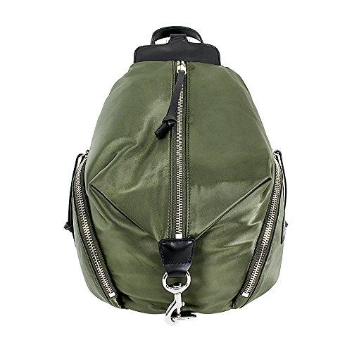 Rebecca Minkoff Women's Julian Satin Nylon Backpack, Army Green, One Size (Satin Backpack)