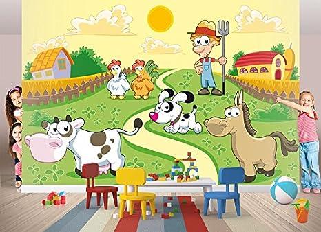 Papier Peint Animaux De La Ferme 400 X 260 Cm Nr 8tg 655 Frise