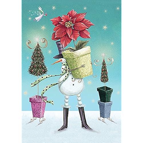 toland home garden gifting snowman 28 x 40 inch decorative usa produced house flag - Decorative Christmas Flags