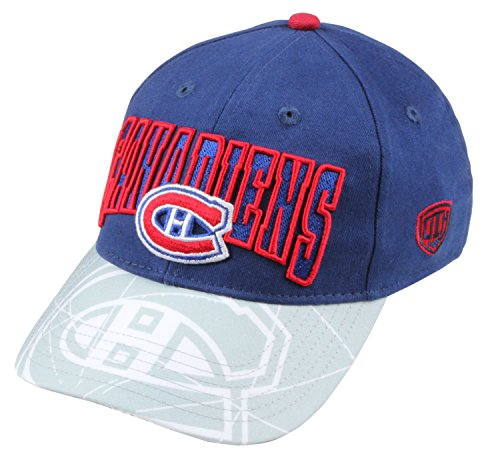 fan products of NHL Montreal Canadiens Youth Ice Time Adjustable Snapback Hat, One Size, Navy