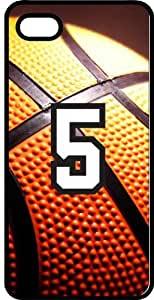 Basketball Sports Fan Player Number 05 Smoke Rubber Decorative iPhone 5/5s Case