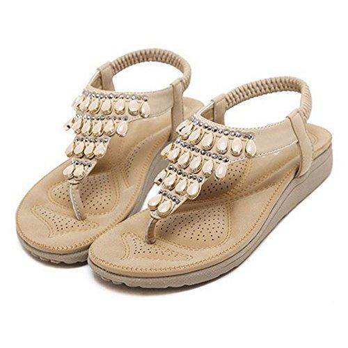 Sandales Toe Confort VulusValas Femmes Clip 57 Apricot qIAFw