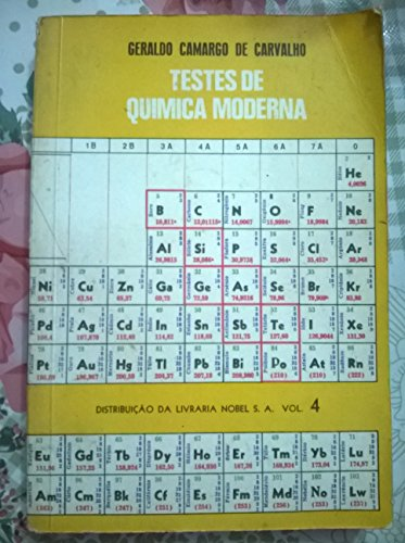 Testes de Química Moderna - Volume 4