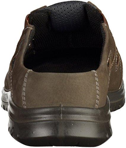 Hombres Zuecos JOMOS 423310-838-2100 piedra / cuero gris intercambiable grau