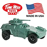 TimMee Green Armored Car Military Scout Vehicle for 2 inch (54mm) Plastic Army Men - Made in the USA!