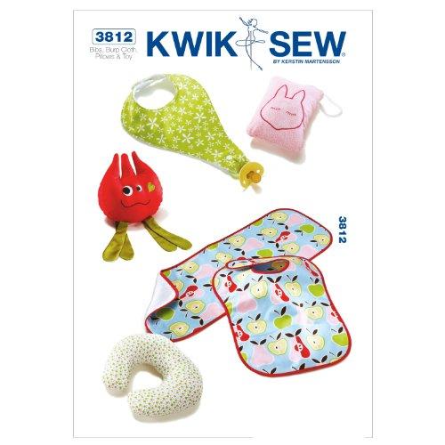 Kwik Sew K3812 Bibs Sewing Pattern, Burp (Baby Bib Sewing Pattern)