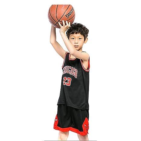 en soldes ea3d0 e8aa9 KKSY Maillot de Basket Tenues pour Enfants Hommes et Femmes de Basket-Ball  Uniformes d'entraînement Maillots Michael Jordan Adaptés aux Sports pour ...