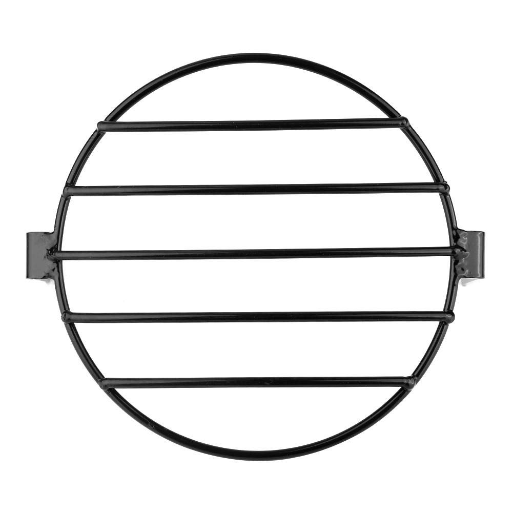 Gorgeri 7 pollici retr/ò metallo moto griglia montaggio laterale copertura faro moto anteriore faro lampada griglia griglia copertura nero