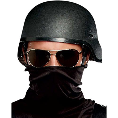 Black Ops Halloween Costumes (Dreamgirl Men's Special Ops Helmet, Black, One Size)
