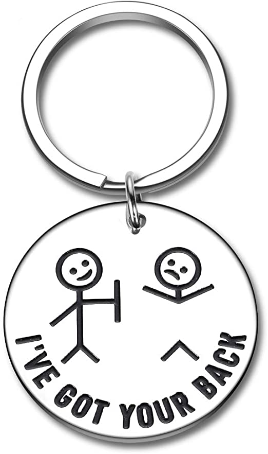 Funny Friend Keychain for BFF Besties -