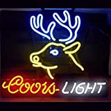 Coors Light Deer Neon Sign 17''x14''Inches Bright Neon Light for Store Beer Bar Pub Garage Room