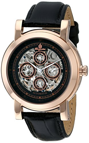 Burgmeister Men's BM129-322 Analog Display Automatic Self Wind Black Watch