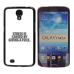 Paccase / SLIM PC / Aliminium Casa Carcasa Funda Case Cover para - Stress White Black Depression Text Message - Samsung Galaxy Mega 6.3 I9200 SGH-i527