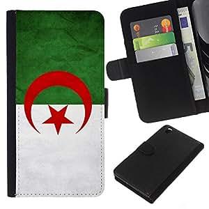 """Be-Star la tarjeta de Cr¨¦dito Slots PU Funda de cuero Monedero caso cubierta de piel Para HTC DESIRE 816 ( Bandera nacional de la Serie-Argelia"""" )"""
