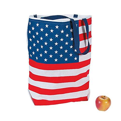 Fun Express USA American Flag Tote Bag