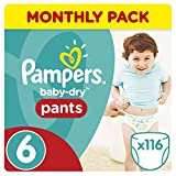 Pampers Baby-Dry Pants, Size 6, Pack of 116