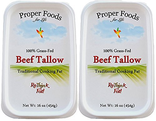 Proper Foods 100% Grass-Fed Beef Tallow, Cooking & Baking, 16 oz (Pack of 2) by Proper Foods For Life (Image #4)