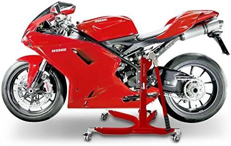 ConStands Power Classic-Zentralst/änder f/ür Ducati 848// Evo 08-13 Rot Motorrad Aufbockst/änder Heber Montagest/änder