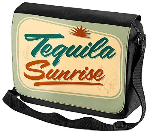 Umhänge Schulter Tasche Plakat Motiv Tequila Sunrise bedruckt Küchenmotiv