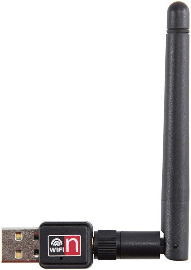 Jullynice Mini USB 150M 150Mbps Wireless LAN Adapter 802.11B//N//G WiFi W// 2Dbi Antenna Portable Home Office Wireless Network Cards Headrest Pillow