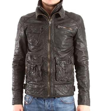 günstig verschiedene Farben herausragende Eigenschaften Superdry Herren Lederjacke Tarpit Jacket, black, Gr. L ...