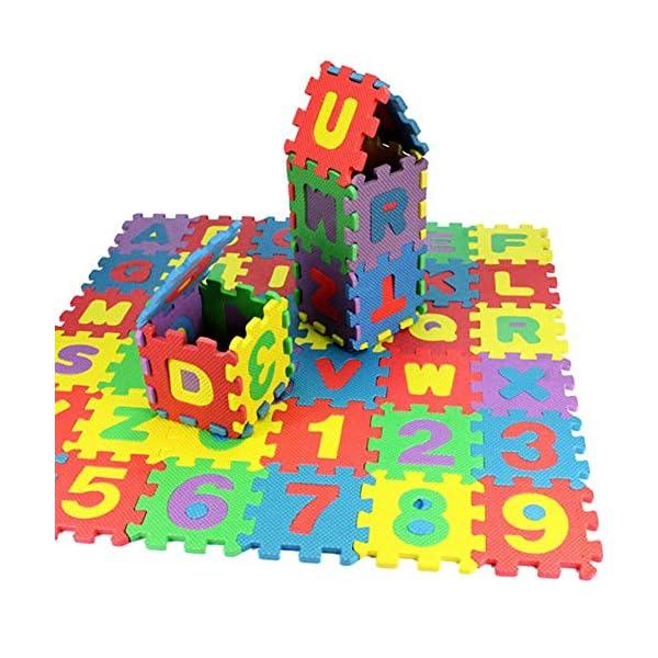 36 Pcs/pack Baby Jigsaw Mat, Soft Foam Play Alphabet Numbers DIY Puzzle Carpet Pad Floor 1